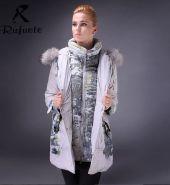 Модная зимняя женская куртка Rufuete (Бежевый)