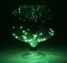"""Гирлянда """"Метраж"""" 3.5 м, нить темная, 50 ламп, Зеленый"""