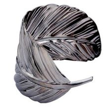 Браслет в форме серебрянного листа
