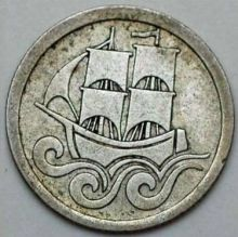 Монета 1/2 гульдена Польша 1927