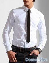 Узкий черный галстук 38 см