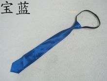Узкий Синий галстук 38 см