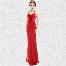 Красное стильное вечернее платье Долореси