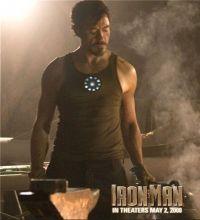 Светодиодная футболка Железный человек Reactor