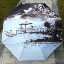 """Раскладной зонт с 3D принтом """"Японская гравюра"""""""