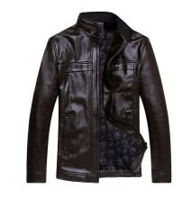 Мужская кожаная куртка Весна-осень